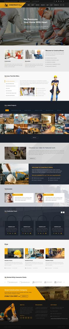 Construct Press is beautifully design modern responsive #WordPress Theme for #Construction and Renovation business #website download now➝ https://themeforest.net/item/construct-press-construction-and-renovation-wordpress-theme/15800664?ref=Datasata