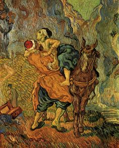 Vincent van Gogh (after Delacroix), The Good Samaritan (oil on...