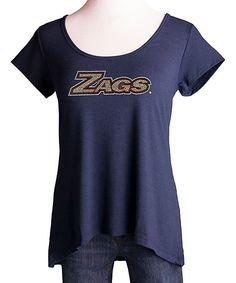 Gonzaga Bulldogs  Zags  Nailhead Crossback Tee - Women Bulldogs 63aa82ea9