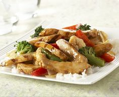 Healthy Recipes: Chicken and Vegetable Stir Fry, Baked Pesto Chicken, Magic Brownies, Pineapple Angel Food Cake Stir Fry Recipes, Milk Recipes, Real Food Recipes, Chicken Recipes, Healthy Recipes, Free Recipes, Healthy Meals, Gourmet Chicken, Healthy Chicken