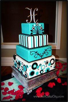 Tiffany Blue wedding cake, modern, whimsical  #tiffany #blue #wedding  www.BrassTacksEvents.com  www.facebook.com/BrassTacksEvents  www.twitter.com/BrassTacksEvent