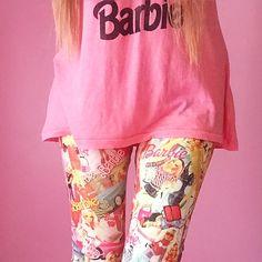 #AzusaBarbie #barbie #barbieleggings #ootd #barbieoutfit #barbieshirt