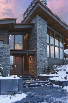 142 stunning modern dream house exterior design ideas page 13 Dream Home Design, Modern House Design, Future House, My House, Luxury Homes Dream Houses, Dream House Exterior, Exterior Houses, House Goals, Building Design