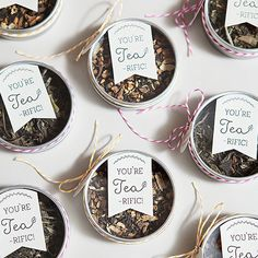 Use loose-leaf tea for a fun party favor that guests will actually use!