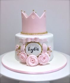 Girls Princess Birthday Cake by The White Rose Cake Company. Brighton, Sussex