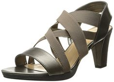 Bella Vita Womens Leeza II Platform Sandal PewterStretch 7 N US *** You can find more details by visiting the image link.