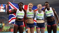Great Britain's women won their first Olympic 4x400m relay medal since 1992, securing bronze behind the United States, who retained their title, and Jamaica. In doing so, they ensured that the British team surpassed the country's record medal haul of 65, achieved at London four years ago.