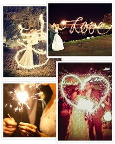 What simple way is there to add sparkle and shine to your wedding and make your guests smile at the same time? Wedding Sparklers of course!
