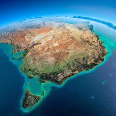 Australia - Fascinating Relief Maps Show The World's Mountain Ranges