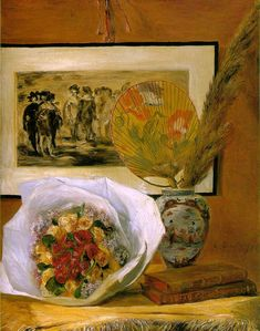 Stil live with bouquet, Renoir