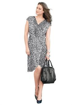 Plus Size Dress in Sarong Style image. only have size 18 for $18 on clearance.