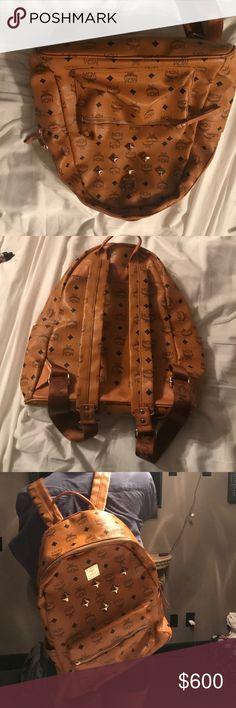 Mcm designer backpack Brown leather designer backpack. MCM Bags Backpacks