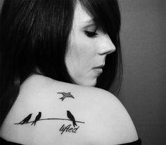 46 Best Birds On A Wire Tattoo Images Bird Tattoos Tatuajes Birds