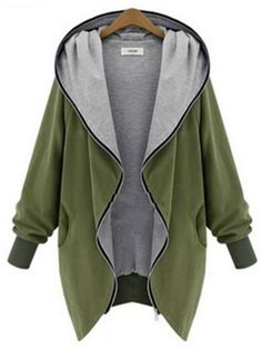 Women Plus Size Casual Jacket Warm Hoodie
