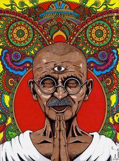 To believe in something, and not to live it, is dishonest. - Mahatma Gandhi    Art: Daniel Ramirez