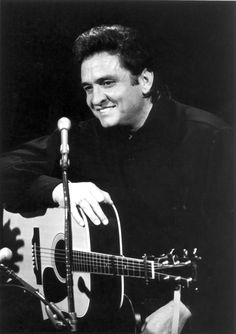 Johnny Cash playing a D-35