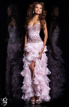 5f5de1e79e9 Check out the deal on Sherri Hill 21104 High Low Ruffle Dress at French  Novelty