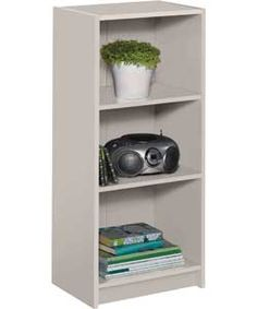 Maine Range Half Width Small Extra Deep Bookcase Putty