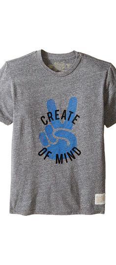 The Original Retro Brand Kids Create Peace of Mind Tri-Blend Tee (Big Kids) (Streaky Grey) Boy's T Shirt - The Original Retro Brand Kids, Create Peace of Mind Tri-Blend Tee (Big Kids), RB120B-RTF171S-980, Apparel Top Shirt, T Shirt, Top, Apparel, Clothes Clothing, Gift, - Fashion Ideas To Inspire