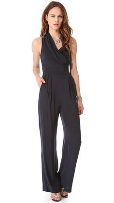 Catherine Malandrino Marion Sleeveless Jumpsuit... the search for the world's most flattering (curvy girl) jumpsuit continues.