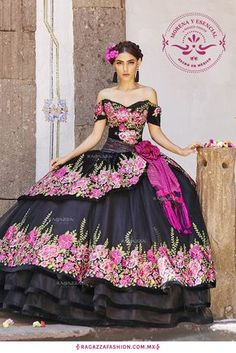 The Quinceanera Collection offers elegant quinceanera dresses,ragazza fashion and vestidos de quinceanera! These pretty quince dresses are perfect for your party! Mexican Quinceanera Dresses, Mexican Dresses, Quinceanera Party, Xv Dresses, Fashion Dresses, Prom Dresses, Charro Dresses, Vestido Charro, Sweet 16 Dresses