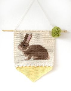 Bunny Rabbit Wall Hanging Crochet pattern by Little Doolally