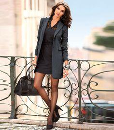 chaqueta femenina larga