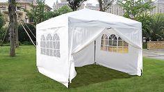 EZ Pop UP Wedding Party Tent Folding Gazebo Camping Canopy W/ SIDES & Carry Bag