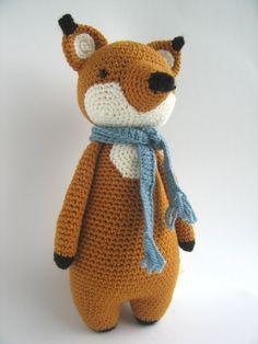 Fox Crochet Amigurumi Pattern by LittleBearCrochets on Etsy