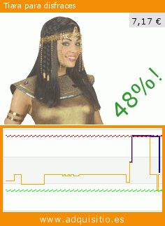 Tiara para disfraces (Juguete). Baja 48%! Precio actual 7,17 €, el precio anterior fue de 13,70 €. https://www.adquisitio.es/widmann-srl/egipcia-cleopatra-tocado