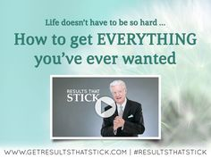 Is your goal weight, dream job, personal fulfillment and even love simply slipping through your fingers … day-after-day, month-after-month and year-after-year?  Stop what your doing and watch this video from Bob Proctor now. #resultsthatstick #bobproctor