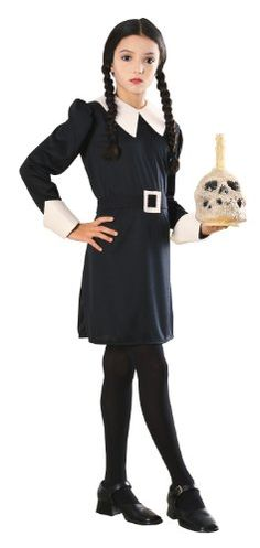 Addams Family Child's Wednesday Addams Costume - Group Halloween Costumes: The Addams Family