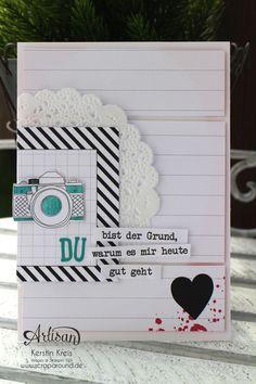"""Stamping & Blogging DT Sketch99 Karte mit ProjectLife Karten-Kollektion """"auf und davon"""""""