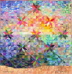 Hunter Star Quilts and Beyond, © 2003 by Jan Krentz I really like a two-color hunters star quilt but this is fabulous.