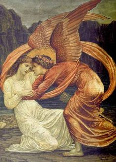 Edward Burne-Jones' Cupid and Psyche/Tumblr