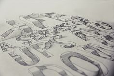 3D Typography // Life: A series of ups and downs by Lex Wilson