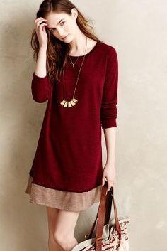 Red Puella Semitone Swing Dress. This would make a cute work dress.   #shoplu lucurates.com
