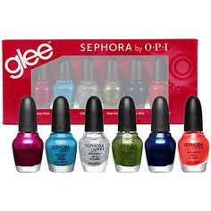 GLEE 6 piece Mini Kit   Sephora by O.P.I.   (omg, what? gimme gimme!)