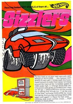 1970s ad for Hot Wheel Sizzlers