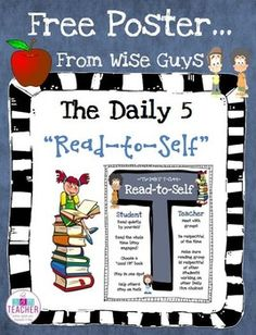Daily 5 Read To Self T-Chart Poster (Intermediate) FREE