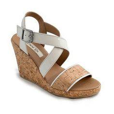 Cork Wedge Sandals.Vegan shoes. $133