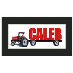 Case IH Tractor Personalized Name Print  Unframed by nattynames, $12.00