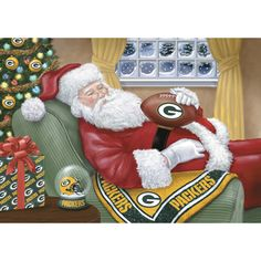 Green Bay Packers Christmas Cards - Napping Santa. Very cute Go Packers, Green Bay Packers, Packers Football, Football Team, Packers Baby, Football Baby, College Football, Football Quotes, Cowboy Christmas