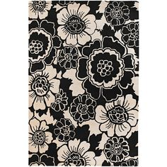 Chandra Faro Far6202 Black White Area Rug ❤ liked on Polyvore featuring home, rugs, black white area rug, black & white rugs, black and white area rugs and black and white rug