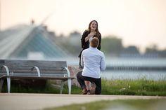 Photo by Brian Slawson Photography. Proposal shoot. Milwaukee, WI. Lakeshore State Park. #proposal #shesaidyes #beautiful