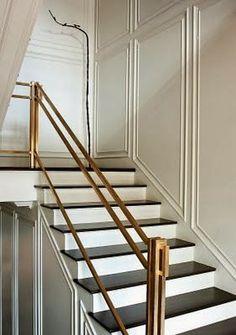 Wall panels. Handrail detail (via La Boheme)