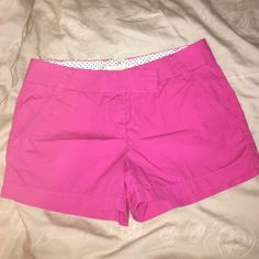 "J Crew chino shorts Bright pink shorts hardly worn! Super soft and comfy with 3"" inseam, 12"" total length J. Crew Shorts"