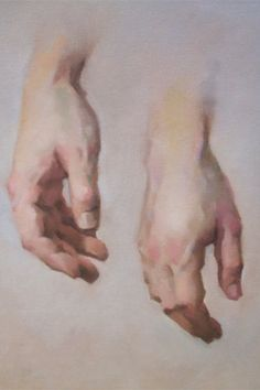 Jeff Haines Hand study oil sketch