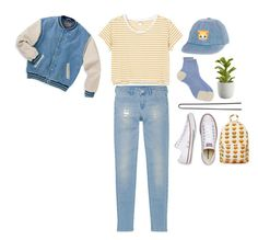 """""""It's a jolly holiday with Mary"""" by dollieguts ❤ liked on Polyvore featuring Maria La Rosa, Monki, Uniqlo, Crate and Barrel, Hershesons and Converse"""