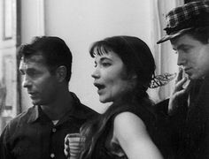 David Amram at right with beat poet Jack Kerouac and friend Dodyh Muller in 1959. (Photo by John Cohen)